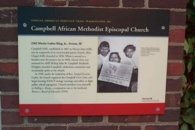 Campbell African Methodist Episcopal Church Marker image. Click for full size.