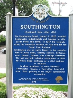 Southington Marker image. Click for full size.
