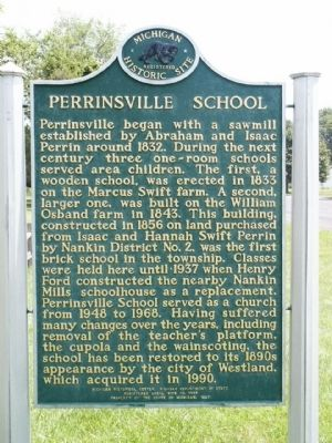 Perrinsville School Marker image. Click for full size.