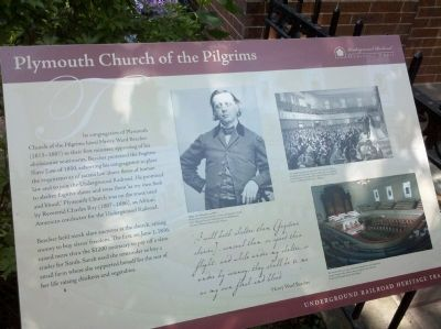 Plymouth Church of the Pilgrims Marker image. Click for full size.