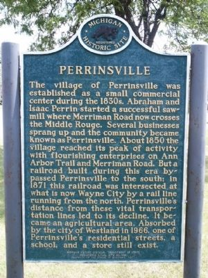 Perrinsville Marker image. Click for full size.