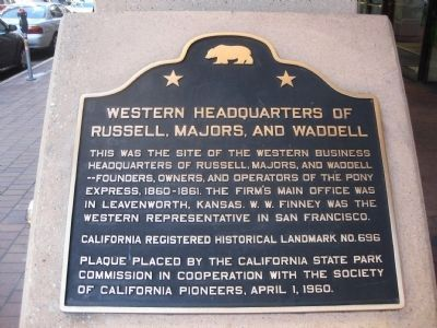 Western Headquarters of Russell, Majors, and Waddell Marker image. Click for full size.