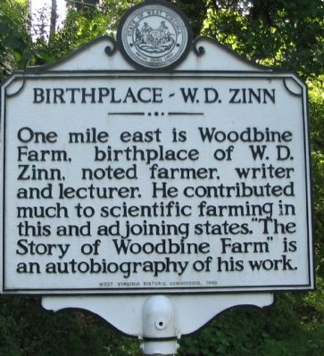 Birthplace - W.D. Zinn Marker image. Click for full size.