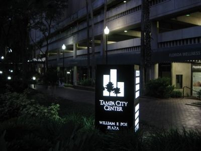 Tampa City Center on William F. Poe Plaza image. Click for full size.