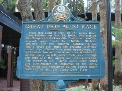 Great 1909 Auto Race Marker image. Click for full size.