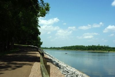 Tennessee River seen from marker site image. Click for full size.