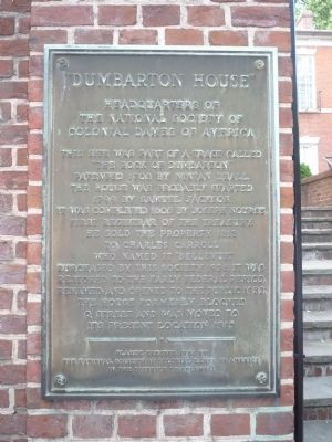 Dumbarton House Marker image. Click for full size.