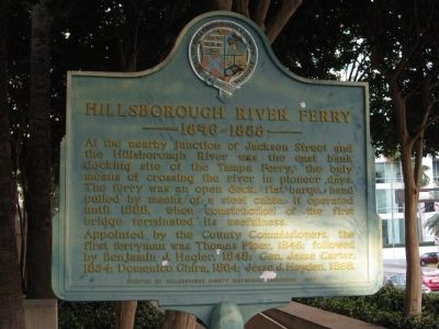 Hillsborough River Ferry Marker image. Click for full size.