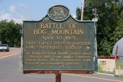 Battle of Hog Mountain Marker image. Click for full size.