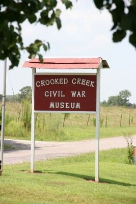 Crooked Creek Civil War Museum at the site of the Battle of Hog Mountain image. Click for full size.