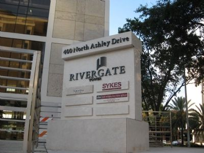 Rivergate Tower sign image. Click for full size.