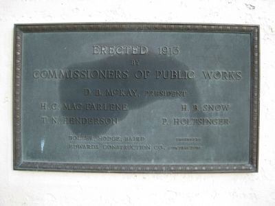 Kennedy Boulevard Bridge Plaque image. Click for full size.