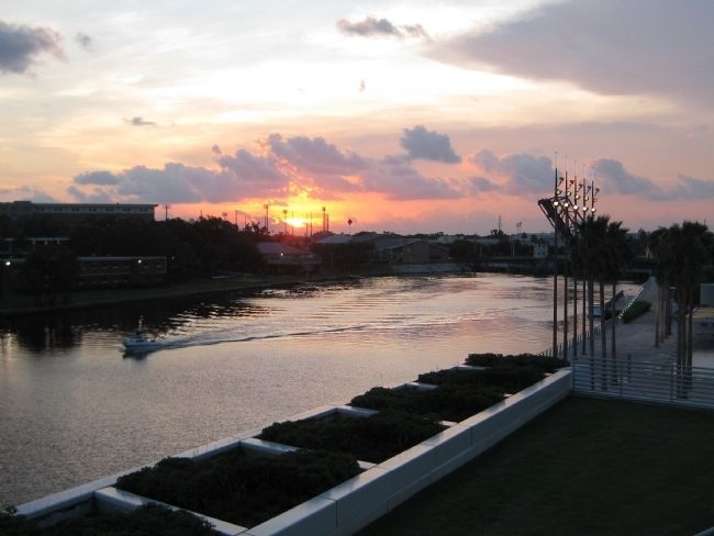 Sunset over the Hillsborough River image. Click for full size.