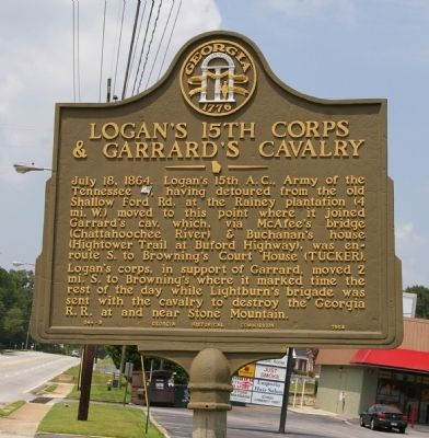 Logan's 15th Corps & Garrard's Cavalry Marker image. Click for full size.