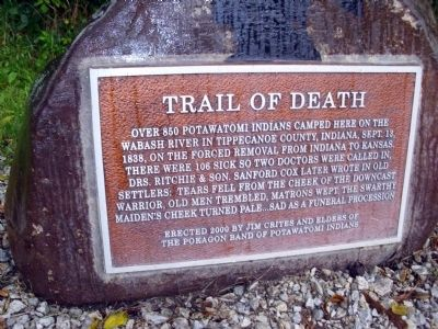 Trail of Death Marker image. Click for full size.