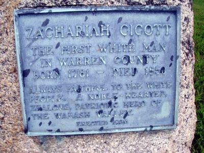 Zachariah Cicott Marker image. Click for full size.