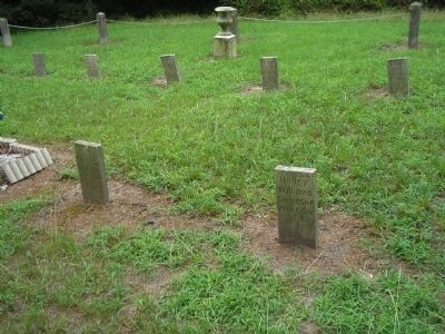 Graves in Kittrell Confederate Cemetery image. Click for full size.