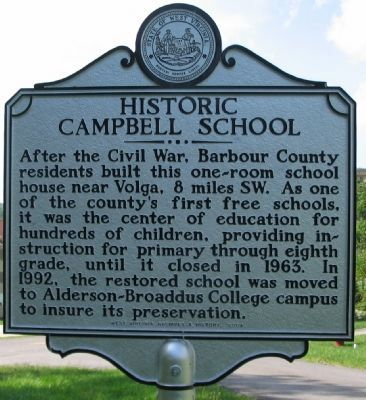 Historic Campbell School Marker image. Click for full size.