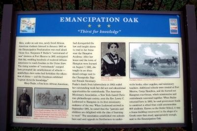 Emancipation Oak CWT Marker image. Click for full size.