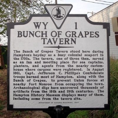 Bunch of Grapes Tavern Marker image. Click for full size.