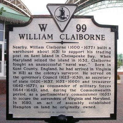 William Claiborne Marker image. Click for full size.