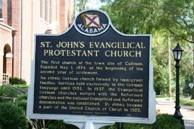 St. John's Evangelical Protestant Church Marker image. Click for full size.
