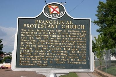 Evangelical Protestant Church Marker image. Click for full size.