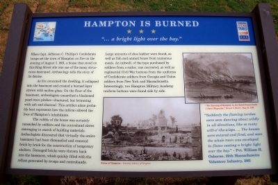 Hampton Is Burned CWT Marker image. Click for full size.