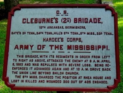 Cleburne's Brigade Tablet image. Click for full size.