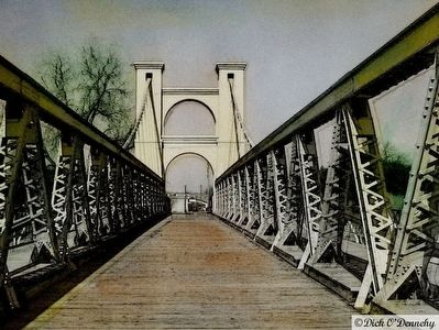 The Waco Suspension Bridge image. Click for full size.