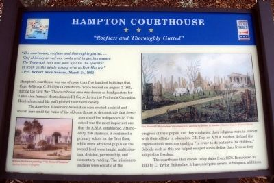 Hampton Courthouse CWT Marker image. Click for full size.