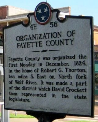Organization of Fayette County Marker image. Click for full size.