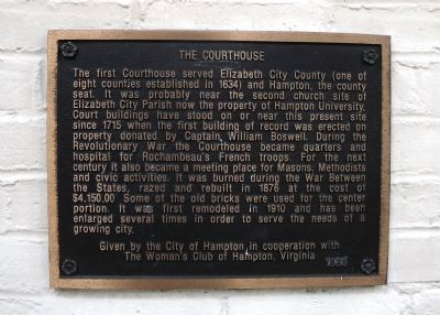 The Courthouse Marker image. Click for full size.
