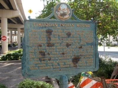 Timuquan Indian Mound Marker image. Click for full size.
