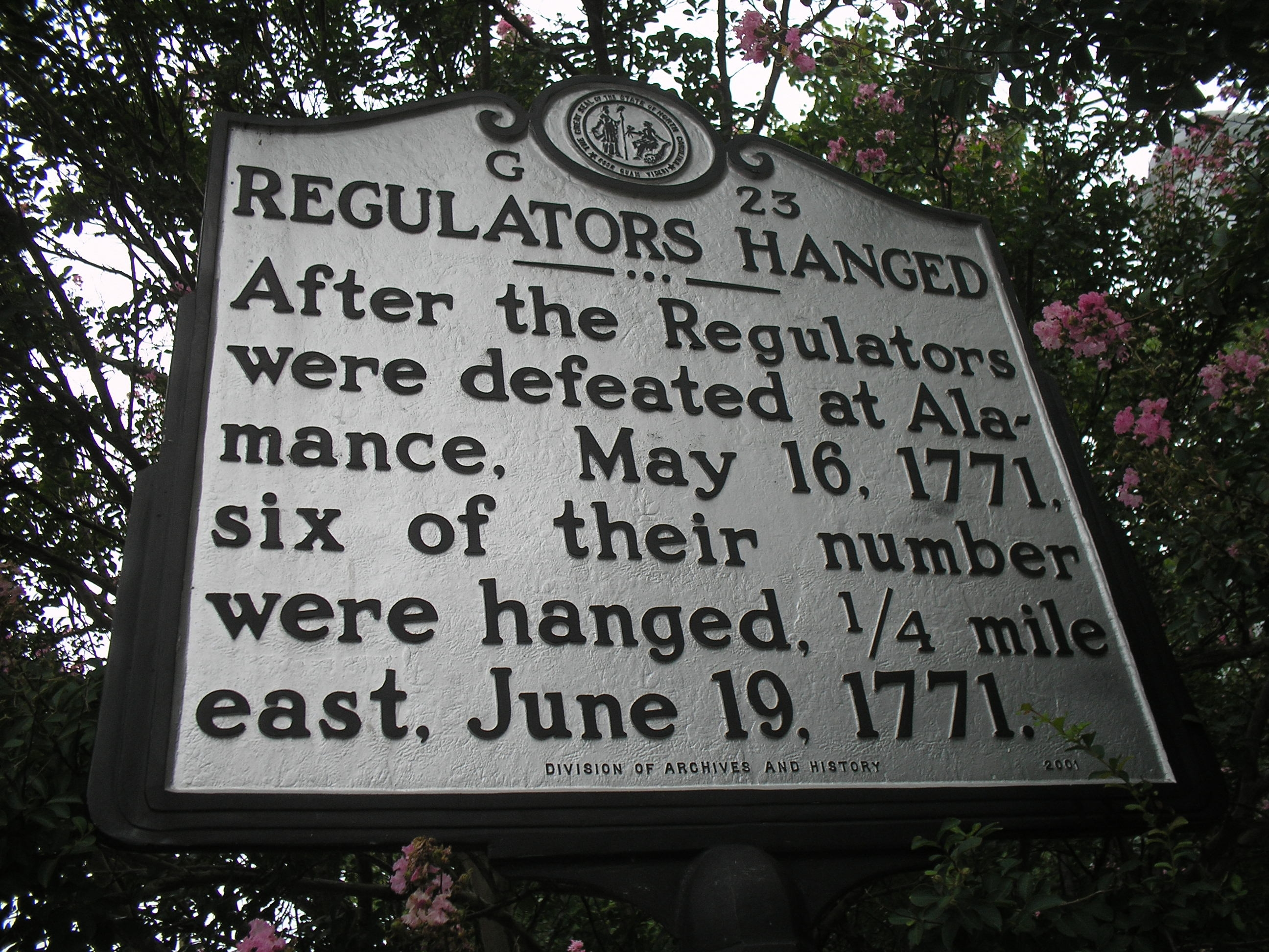 Regulators Hanged Marker