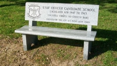 USAF Officer Candidate School Memorial Bench image. Click for full size.