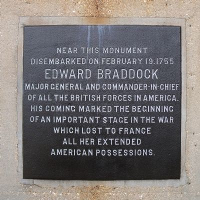 Edward Braddock Marker image. Click for full size.