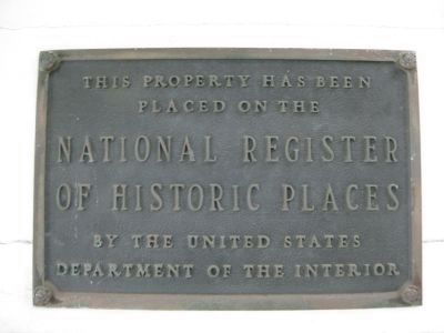 Old Schoolhouse NRHP Plaque image. Click for full size.