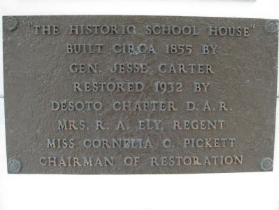 Old Schoolhouse Restoration Plaque image. Click for full size.