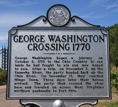 George Washington Crossing, 1770 Marker image. Click for full size.