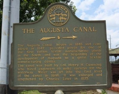 The Augusta Canal Marker image. Click for full size.