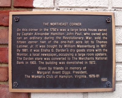 The Northeast Corner Marker image. Click for full size.