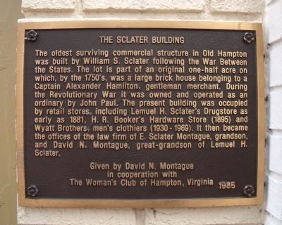 The Sclater Building Marker image. Click for full size.