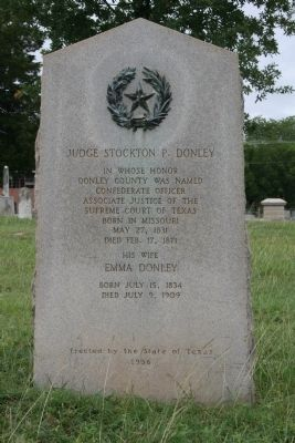 Judge Stockton P. Donley Marker image. Click for full size.