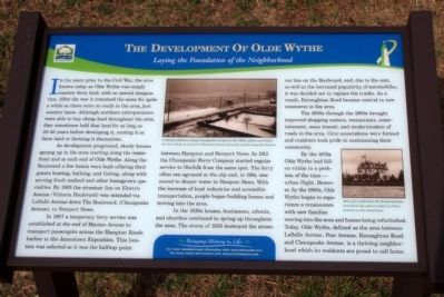 The Development Of Olde Wythe Marker image. Click for full size.