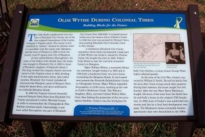 Olde Wythe During Colonial Times Marker image. Click for full size.