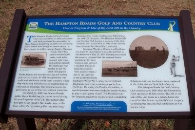 The Hampton Roads Golf And Country Club Marker image. Click for full size.