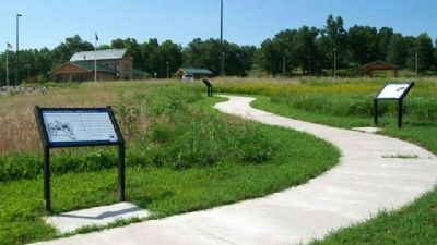 Sounds along the roadway...soldiers on the move. Marker image. Click for full size.