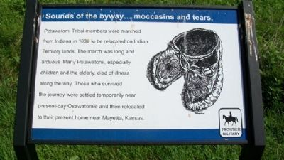Sounds of the byway...moccasins and tears. Marker image. Click for full size.