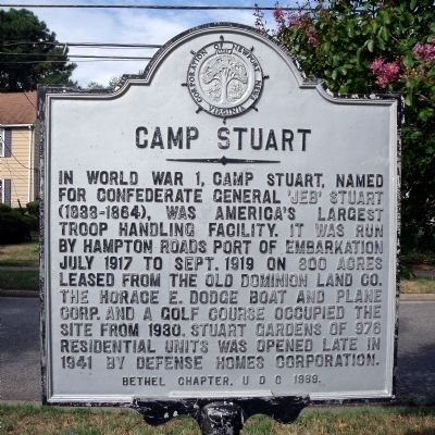 Camp Stuart Marker image. Click for full size.